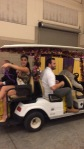 Miss LSU in Bayou Belles Golf Cart Parade